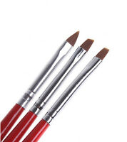 3pcs UV Gel Acrylic Nail Tips Nail Art Builder Brush Pen Drawing