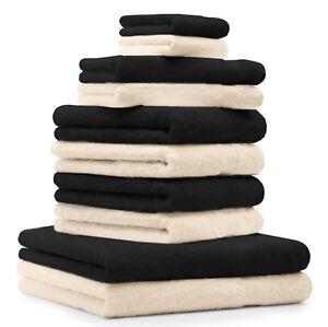 Betz lot de 10 serviettes de bain de toilette d/'invité gants de toilette Premium