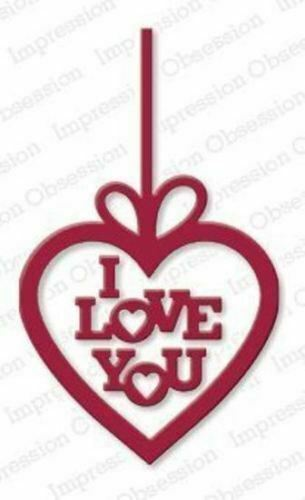 suitable for most die cutters LOVE YOU HEART  DIE-Impression Obsession 131K