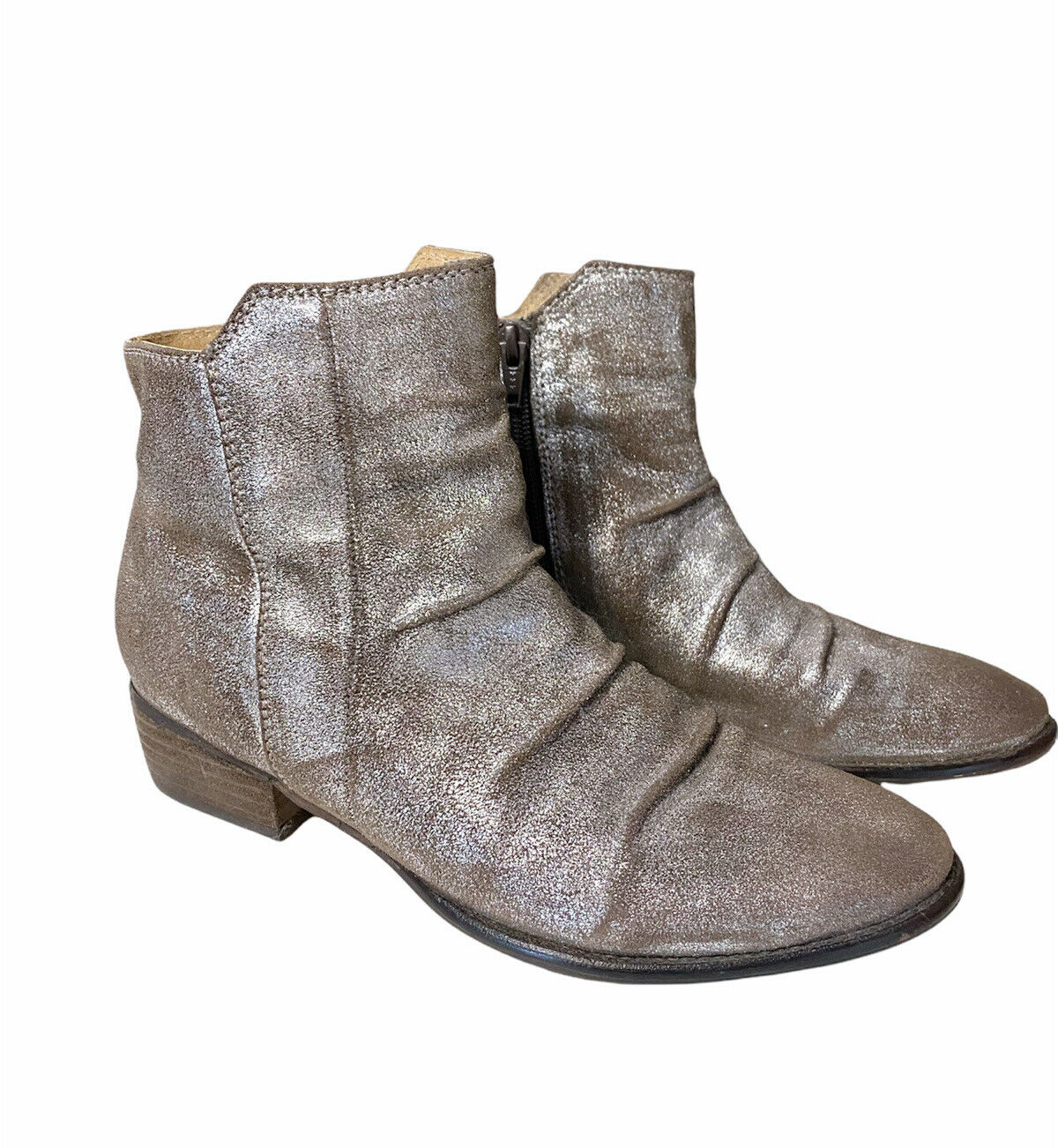 Seychelles Silver Leather Bootie Boots Size 7