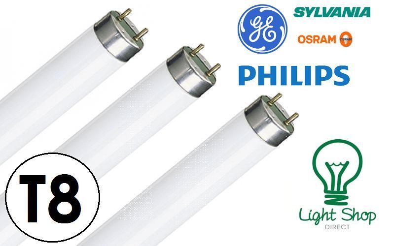 Cajas de tubos tubos de fluorescentes de T8 (25x) - 2ft 3ft 4ft 5ft 6ft 18w 30w 36w 58w 70w 27ca8a