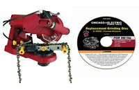 120v Electric Chain Saw Sharpener With Extra Wheel To Sharpen Chain Hassle Free