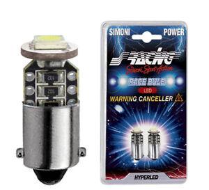 LAMPADINE LED H6W SIMONI RACING NO ANOMALIA LUCI CANBUS
