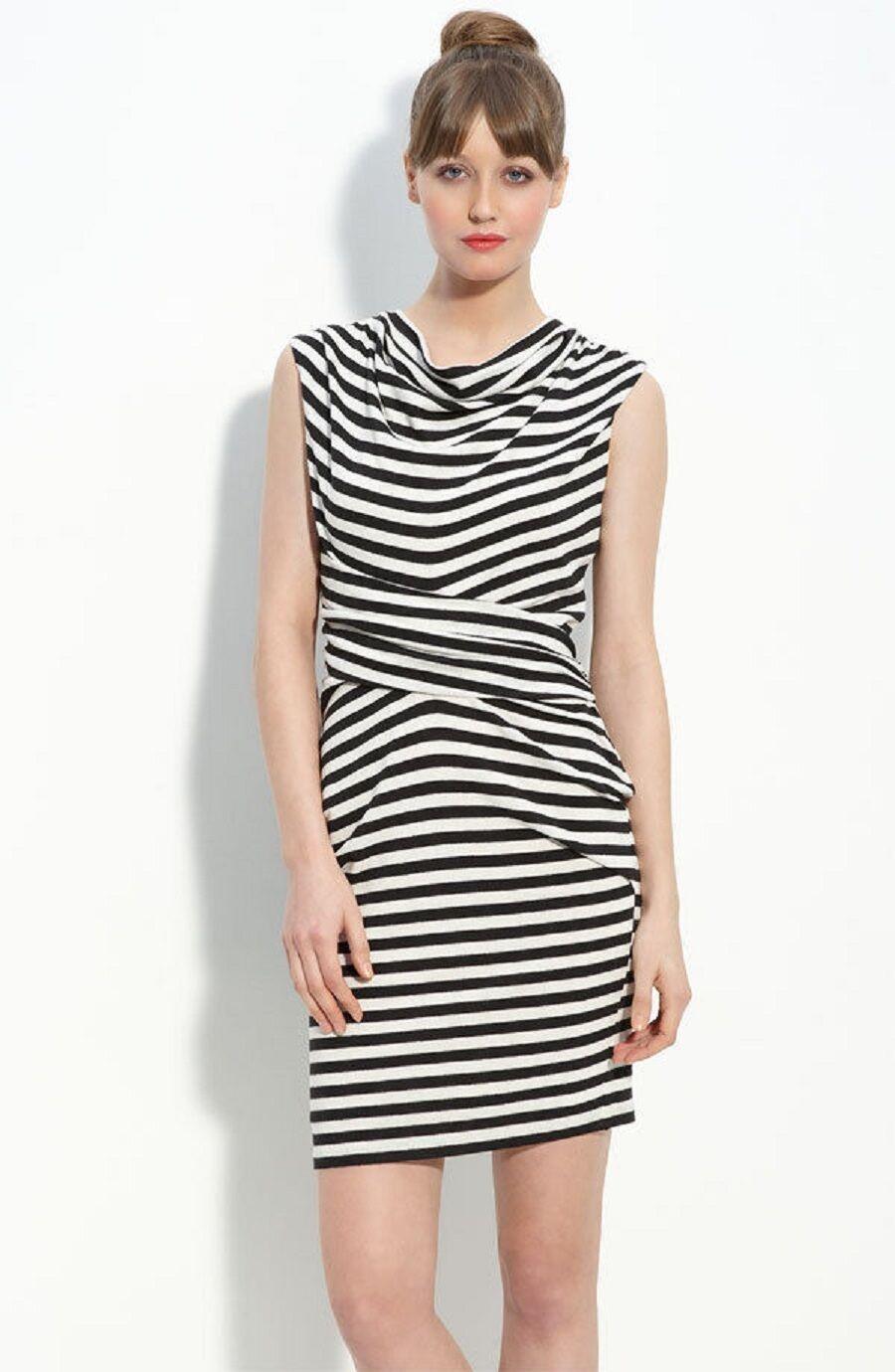 NEW JULIE DILLON Stripe Jersey Sheath DRESS Size 6 NORDSTROM