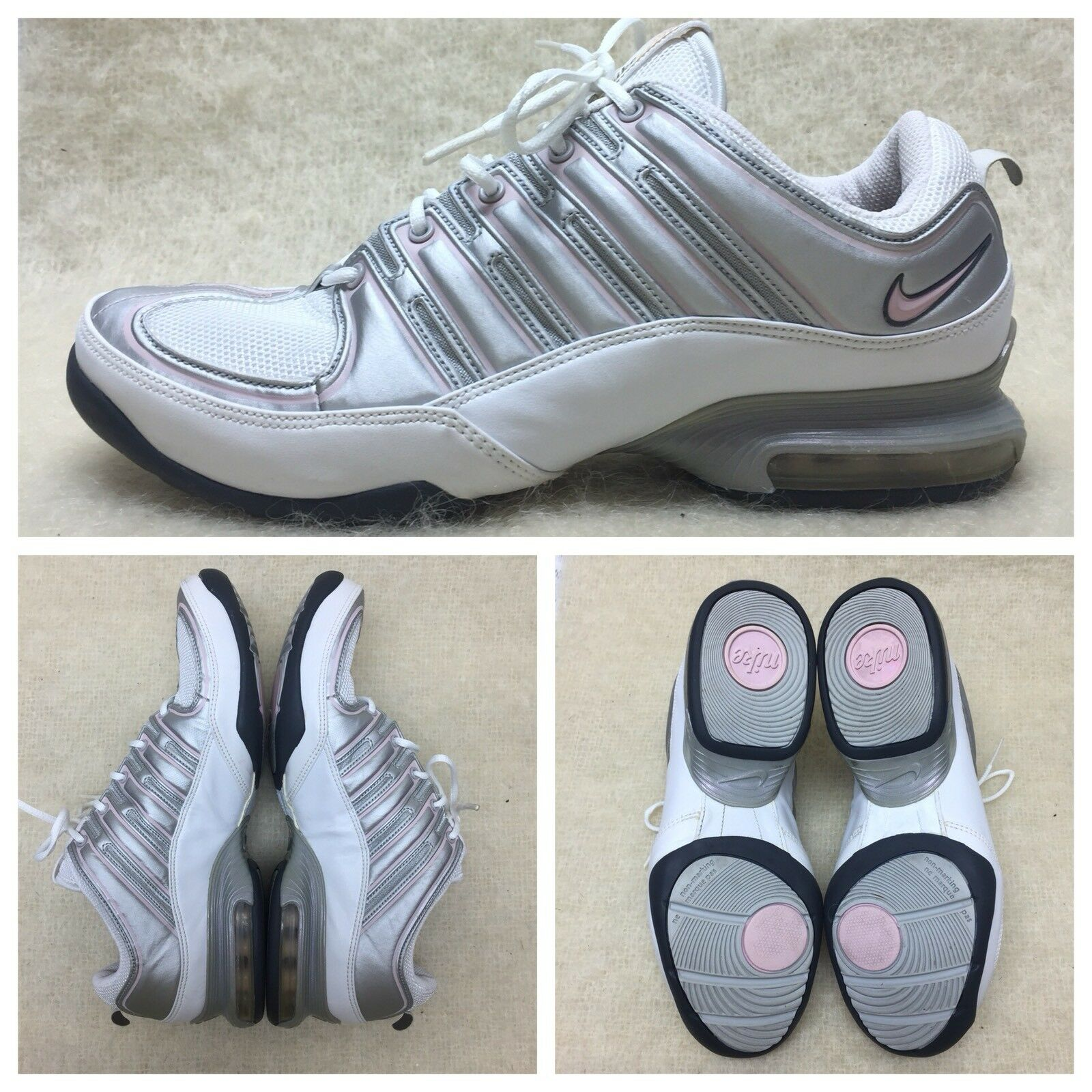 Nike Max Air 313945-161 women size 9 White Silver Pink