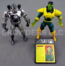 5 Inch War Machine & Mandarin Action Figure Ironman Marvel Comics Toy Biz 1994