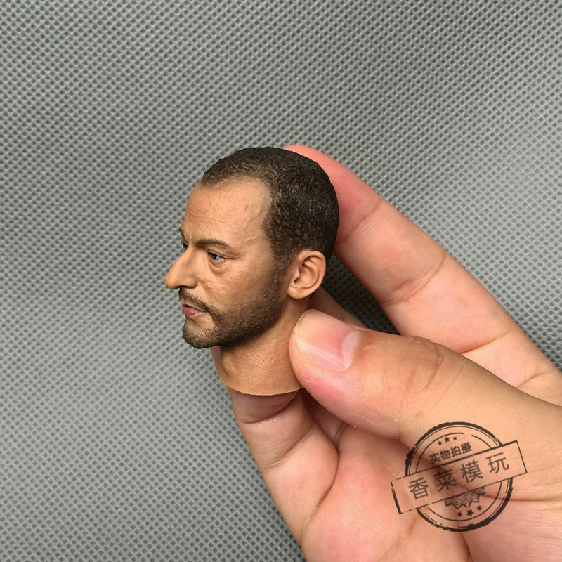 1 6 Scale Léon Jean Reno Head Sculpt Sculpt Sculpt Male Head Model For 12  Action Figure Body 51d830