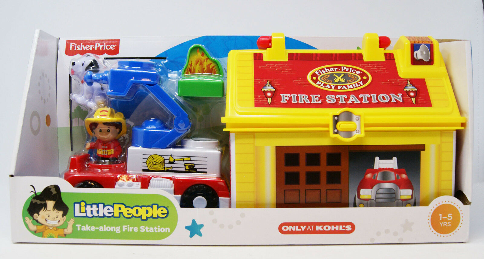 Fisher-Price - Little People - Take-along Fire Station - 2 Figuren mit Truck