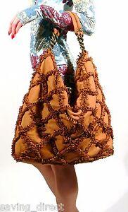 Errelleventidue-Italy-RL22-Washed-Tan-Calf-Leather-Embellished-Tote-Handbag-NWT