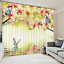 3D Flowers Charm Blockout Photo Curtain Printing Curtain Drapes Fabric Window AU