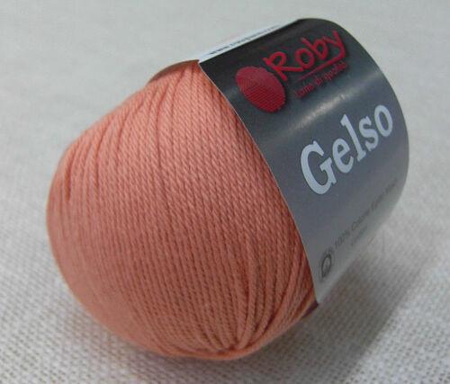 Gelso Roby lane e filati di qualità Gomitoli 100/% cotone Egitto makò art