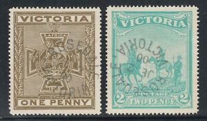 Victoria-Sc-B3-B4-used-1900-South-African-War-Semi-Postals-complete-set-VF
