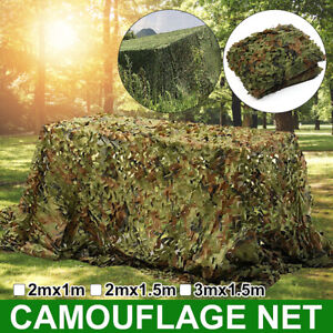 Camouflage Army Green Net Netting Camo Camping Military Hunting Woodland Leaves