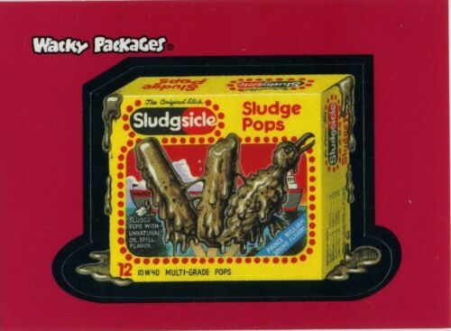 Wacky Packages Promo Sludge Pops Sticker Card  2 of 3 BY TOPPS
