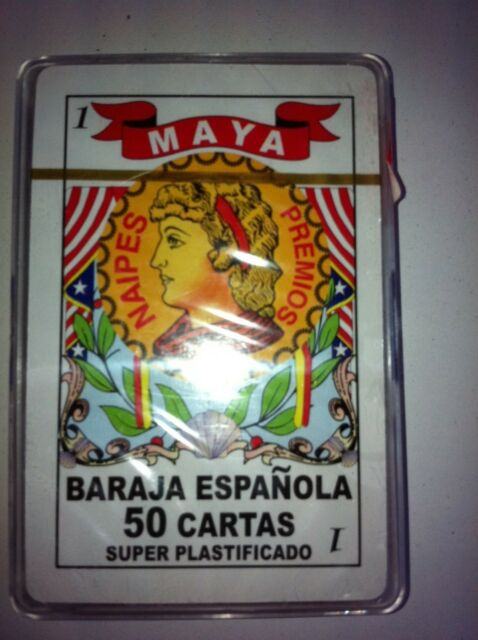 Maya Baraja Espanola 50 Cartas Spanish Playing Cards Plastic Case