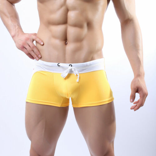 Mens Seobean 007 Aussie Bum Style Swimming Boxer Trunks Swimwear UK FAST POST