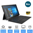 "Linx 12X64 -12.5"" Full HD 2 in 1 Laptop Tablet with Keyboard, 4GB RAM, 64GB eMMC"