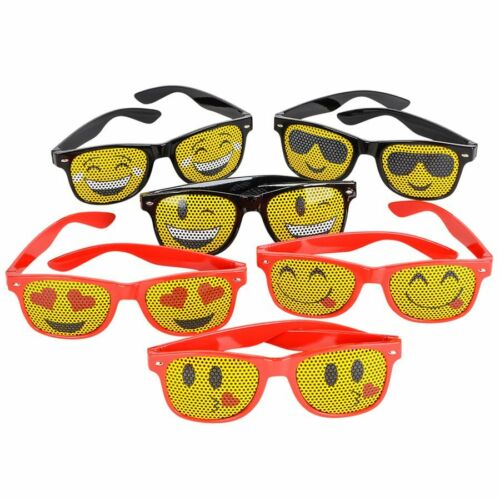 12 Pack Party Novelty Emoji Sunglasses 1 Dozen Mesh Emoticon Sunglasses