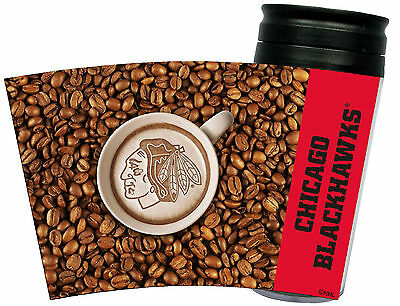 NEW CHICAGO BLACKHAWKS LATTEAM COFFEE ART 16oz TRAVEL TUMBLER