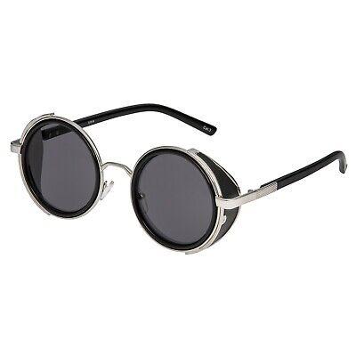 2019 Ultimo Disegno Grigio Argento + Steampunk Occhiali Cyber 50s Rotonda Occhiali Da Sole Occhiali Retrò Vintage- Prezzo Di Vendita