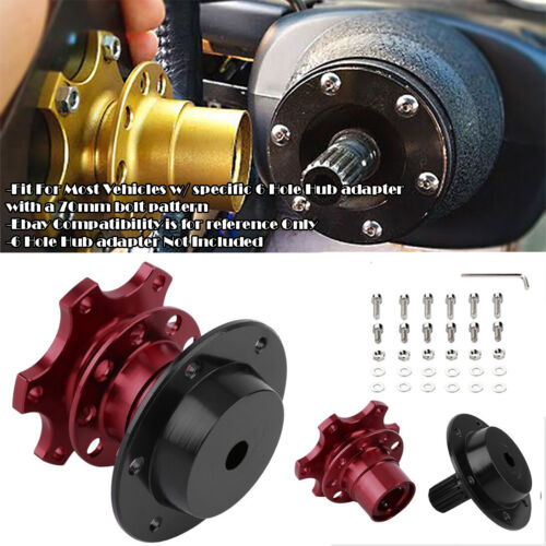 Aluminum Red Steering Wheel Detachable Quick Release Adapter Hub For Ford