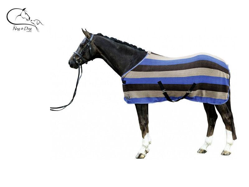 HKM  Stripes  Horse Travel Cooler Stable Sheet Rug Polar Fleece Free Delivery