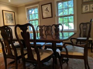Vintage Thomasville Cherry Double Pedestal Dining Table 44 ...