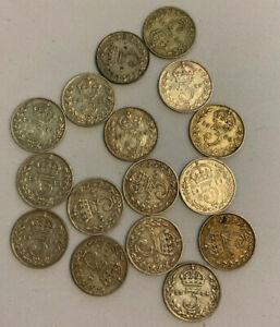 1911 To 1920 George V argent trois pences 3D Choix de l'année/date