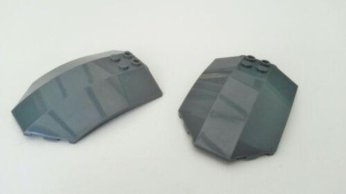Usato Blu grigio 2x LEGO scuro Starwars CABINA DI PILOTAGGIO parti del tetto HP764