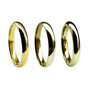 4 mm de 9 quilates de oro amarillo Corte confort Anillos De Boda del Reino Unido Hm 375 Med Hvy /& X Pesado Banda