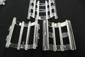 "4002 Lot of 3 Wafer Carriers (Quartz Boats). 4""(100mm), 50 slots"