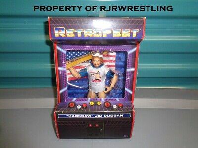 WWE Mattel Retrofest Hacksaw Jim Duggan Elite Figure NIB Flawed Card