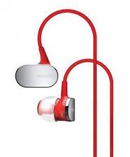 Nixon Red Micro Blaster In Ear Headphones w/3-Button Remote/Mic *New In Box*