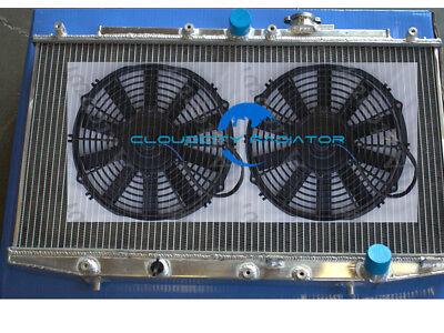 "Aluminum radiator for 1998-2002 HONDA ACCORD CF8 CG3 2.3L L4 12/""Fans 2000 2001"