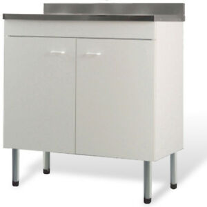 Dettagli su Sottolavello con lavello bianco mobile economico per rinnovare  la cucina offerta