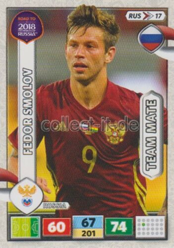 Rus17-Fedor Smolov-Team mates-Panini Adrenalyn Road to World Cup 2018