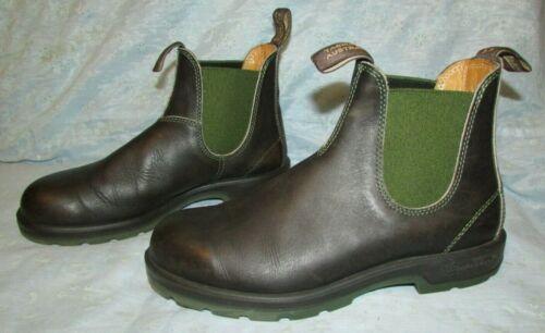 Men's BLUNDSTONE Dark Brown Chelsea Leather  Boots