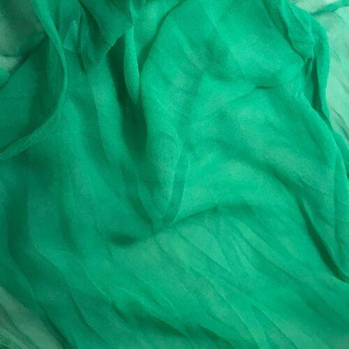Silk Gauze Chiffon Fabric Hand Dyed EMERALD GREEN