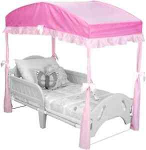 Delta Children Girls Bedroom Furniture Toddler Pink Canopy ...