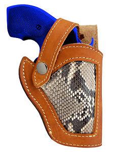 New-Barsony-Tan-Leather-Python-Snake-Skin-Gun-Holster-Colt-Snub-Nose-2-034
