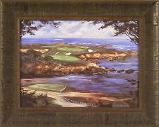 16th AT CYPRESS POINT by Michael Schofield Golf Course 16x20 FRAMED PRINT