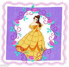 "8"" DISNEY PRINCESS BELLE   CHARACTER FABRIC APPLIQUE IRON ON"