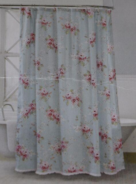 Rachel Ashwell Simply Shabby Chic Hydrangea Shower Curtain Bloom RUFFLE RoseEUC