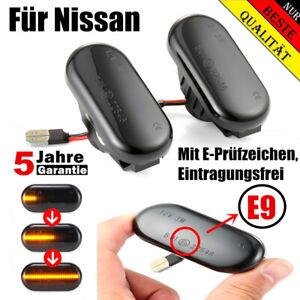 Dynamische-Smoke-LED-Seitenblinker-Blinker-Fuer-Nissan-Qashqai-Pathfinder-Navara