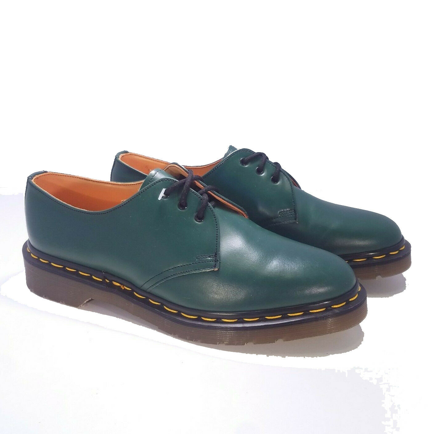Dr. Martens Doc England MIE Rare Vintage Green Leather 1461 shoes UK3 US5