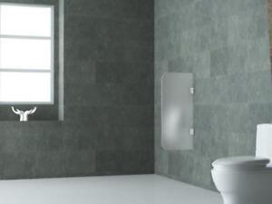 Urinaltrennwand-aus-Milch-Glas-90x40cm-Schamwand-Pissoir-Sichtschutz-Urinal-Wand