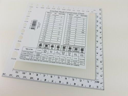 1091-sq Chiaogoo zählrahmen 10x10 cm u nadelmaß 1.5-10.0 mm