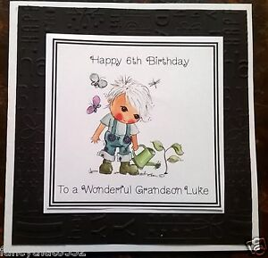 Image Is Loading Mens Boy Handmade Personalised Birthday Card Gardener Gardening