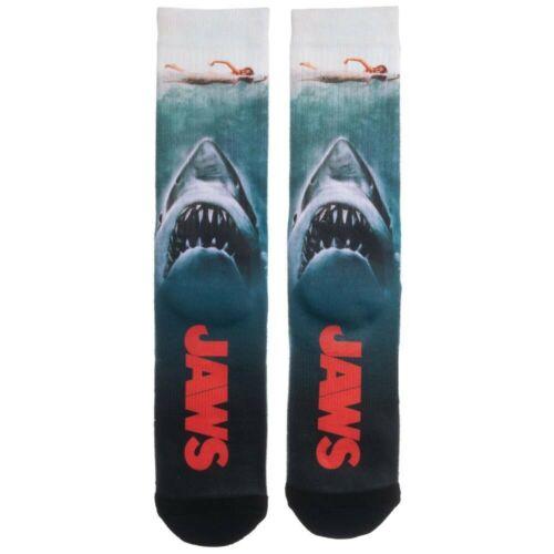 Jaws Movie Poster SHARK ATTACK Rétro sublimées All Over Print pour homme Crew Socks