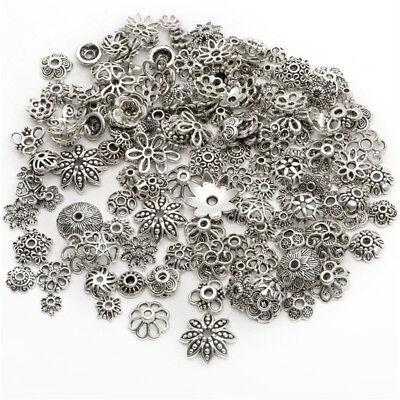 10//25//50//100x Perlenkappen Mix Perlen Kappe Silber Metall Deko DIY Spacer